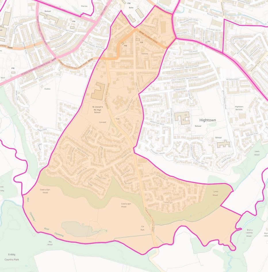 Map of Erddig