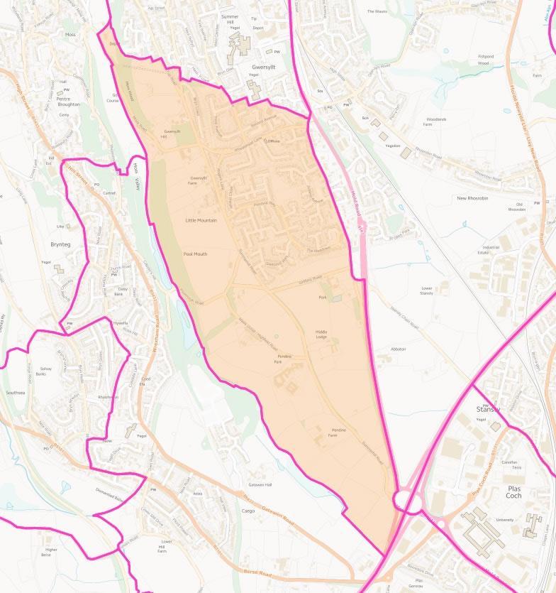 Map of Gwersyllt West