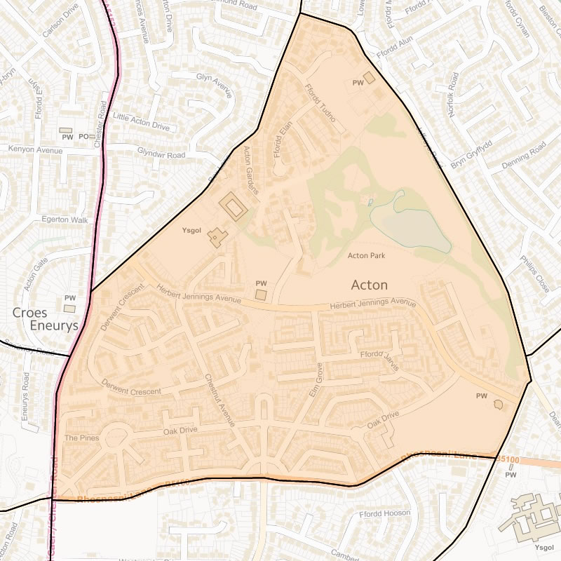 Map of Acton