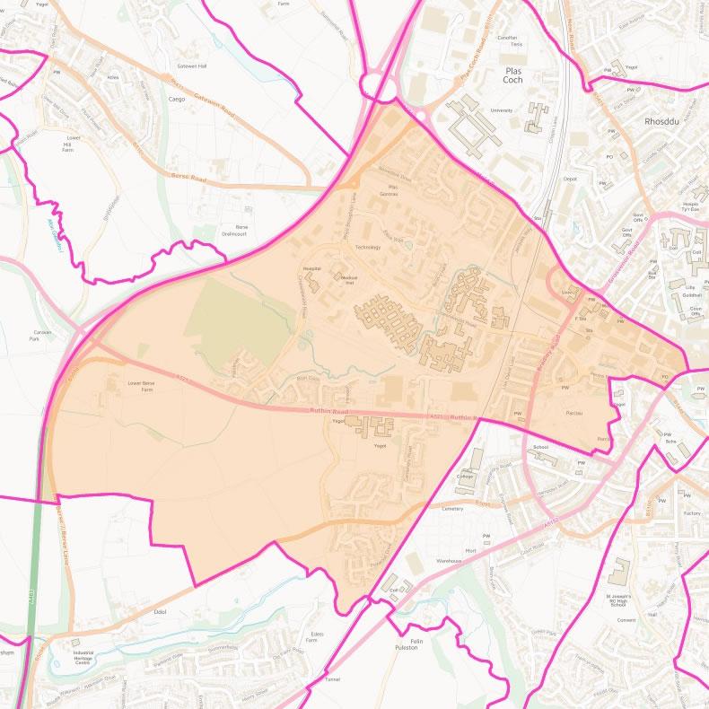 Map of Brynyffynnon