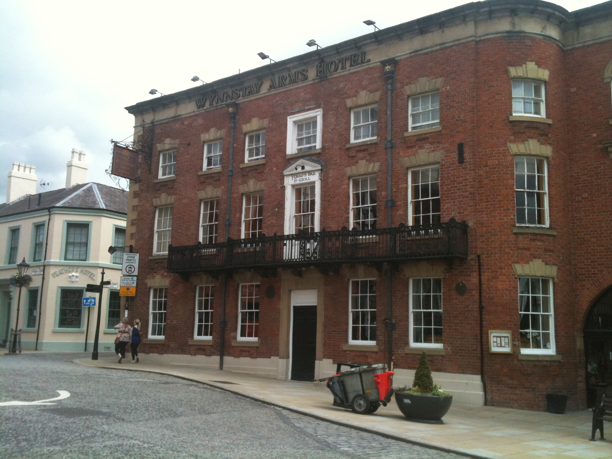 The Wynnstay Hotel which closed down yesterday