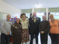 The Mayor of Wrexham Cllr Ian Roberts helps to celebrate Traveller History Month.