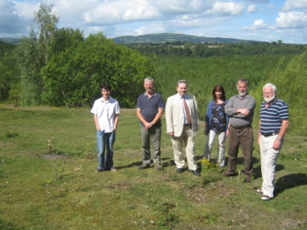 Wrexham MP Ian Lucas visiting the quarry to meet members of the Maes Y Pant Action Group in August.
