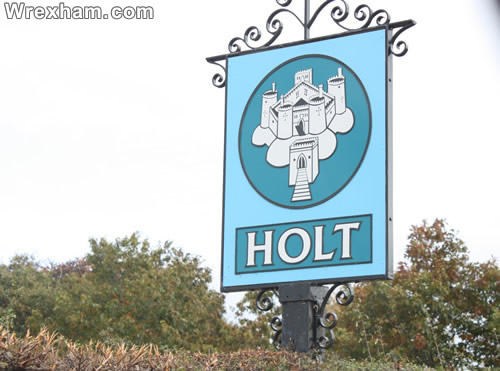 holt roadsign sign wrexham