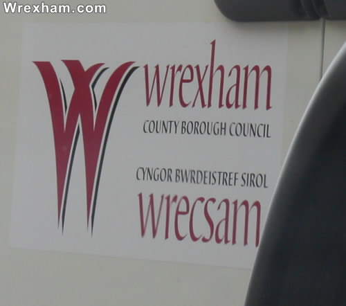 wrexham council logo on truck