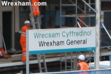 wrexham general station sign