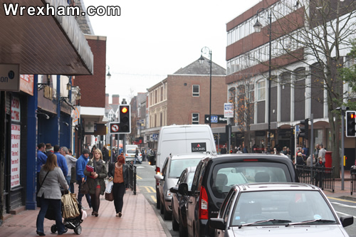 Wrexham's Regent Street on which both the Game and Gamestation stores are based.