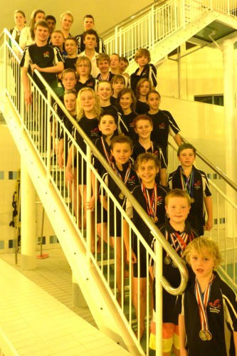 Members of Wrexham Swimming Club