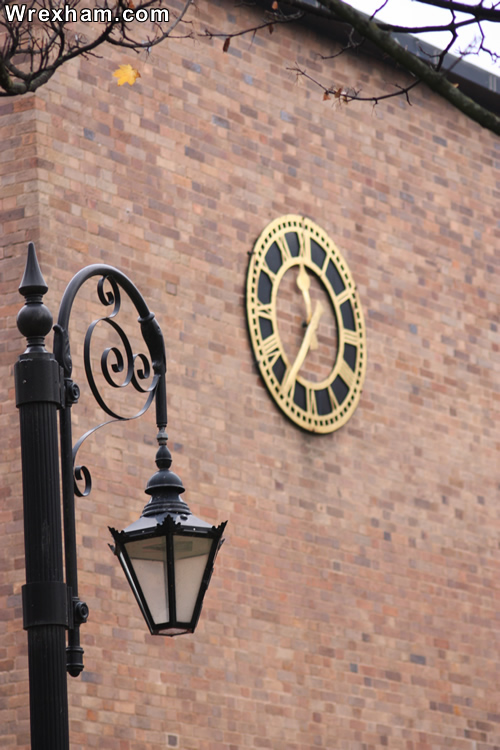 wrexham council clock street light