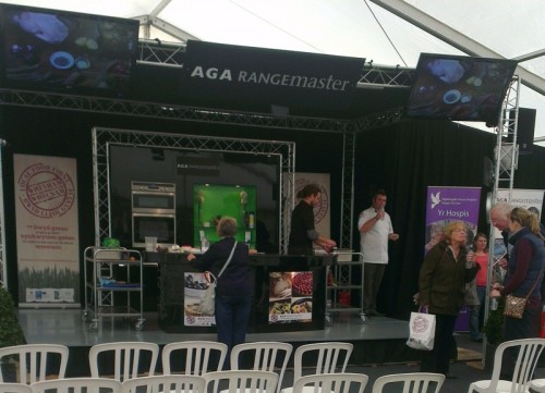 wrexham food fest demo stage 500x361 Wrexham Food Festival 2012