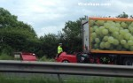 A483 crash car under lorry 150x94 A483 Southbound Nr Rhostyllen Closed After Car Hits Back Of Lorry