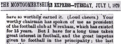 Montgomeryshire Express 500x185 Wrexham FC Fans To Vote To Accept 1864 Date Change