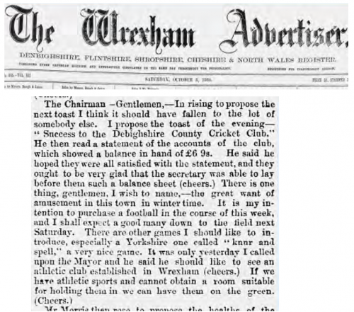 Wrexham Advertiser 500x441 Wrexham FC Fans To Vote To Accept 1864 Date Change