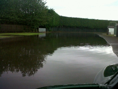 garages in johnstown 500x375 Bad Weather and Floods Hit Wrexham Area   Special Report