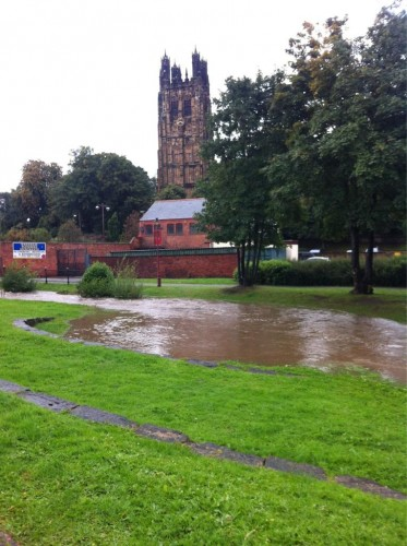 gwenfro 430 373x500 Bad Weather and Floods Hit Wrexham Area   Special Report