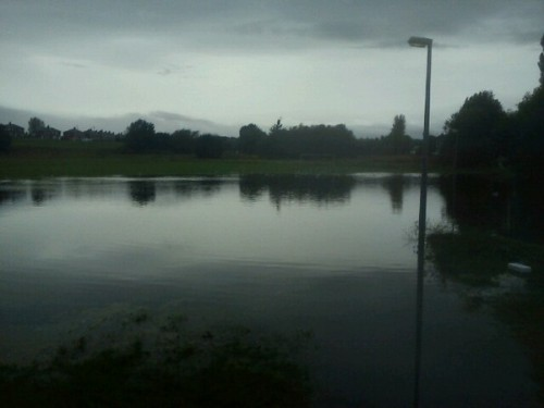 the dunks caia park 500x375 Bad Weather and Floods Hit Wrexham Area   Special Report