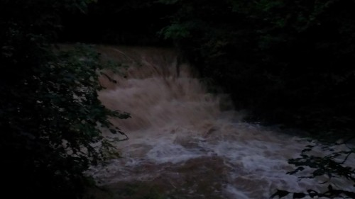 waterfall bersham 500x281 Bad Weather and Floods Hit Wrexham Area   Special Report