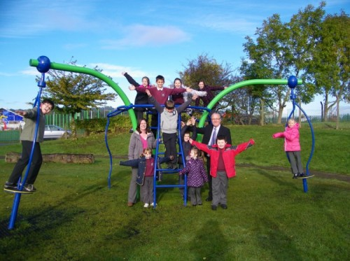 solway banks play area opening 2012