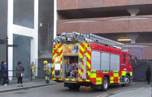 st marks arson fire engine 500x318 Arson Closes Town Centre Car Park