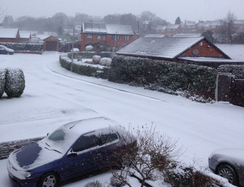 Pont Yr Afon in Penycae 500x383 Friday: Wrexham Snow   Live Updates And Information