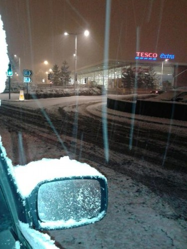 Anthony Evans sent us this picture at 10:15pm of the view in central Wrexham
