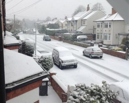 beechley road 500x399 Friday: Wrexham Snow   Live Updates And Information