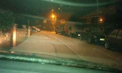 brymbo this evening 500x299 Friday: Wrexham Snow   Live Updates And Information