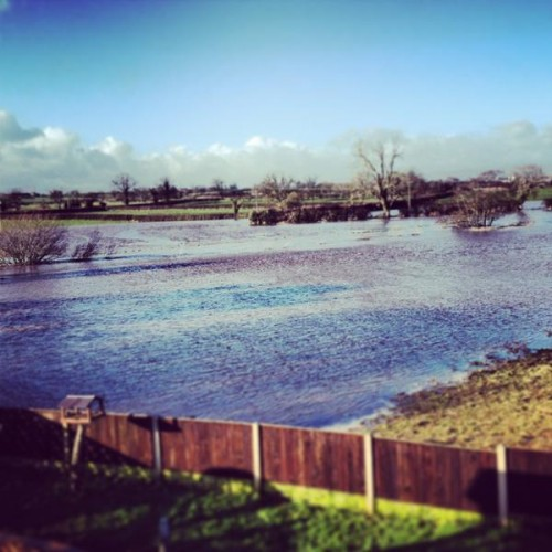 flood picture emma f 500x500 Meltwater And Rain Causes Floods Around Wrexham
