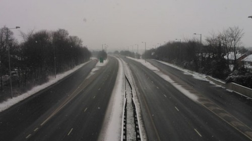 frosty a483 gresford 500x280 Friday: Wrexham Snow   Live Updates And Information