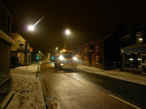 gritter coedpoeth 500x375 Friday: Wrexham Snow   Live Updates And Information