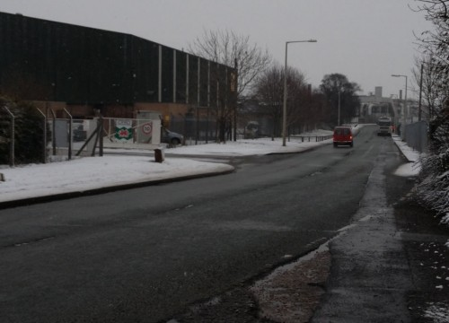 indust estate snow update 500x360 Friday: Wrexham Snow   Live Updates And Information