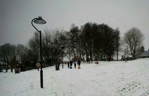 park snow fun 500x323 Friday: Wrexham Snow   Live Updates And Information