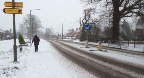 penley 500x274 Friday: Wrexham Snow   Live Updates And Information