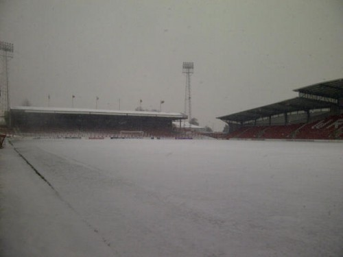 racecourse gary porter dailypost 500x375 Friday: Wrexham Snow   Live Updates And Information
