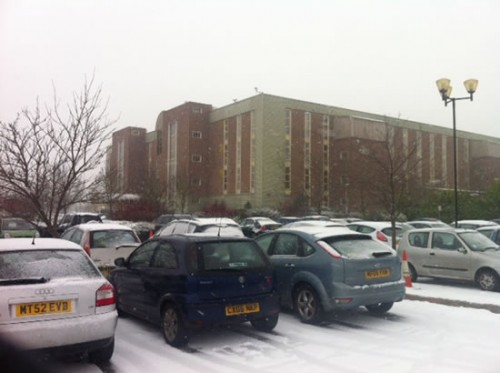 redwither snow 500x373 Friday: Wrexham Snow   Live Updates And Information