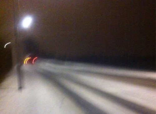 ruthinroadevening 500x366 Friday: Wrexham Snow   Live Updates And Information