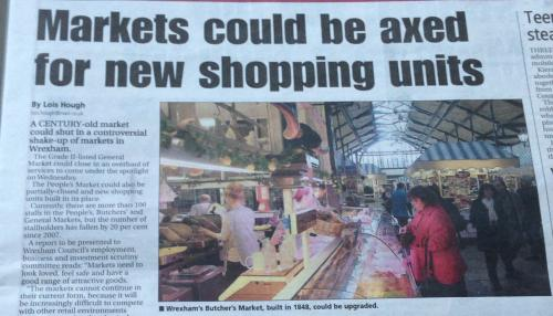 Article headline mentioning markets could be 'axed' with picture of the markets