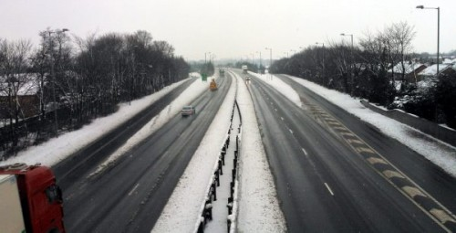 a483-nb-snow-evening