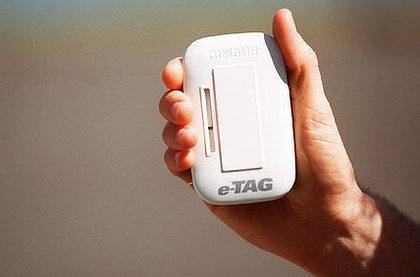 The eTag system that local residents will be encouraged to use.