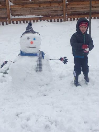 jake in snow