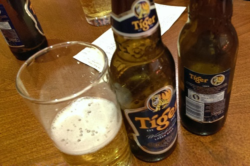 Drinks selection is quite varied, thats why we opted for a standard Tiger.