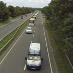 The odd sight of a convoy on the A483