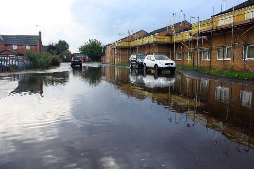 Flash-Floods Hit Wrexham.