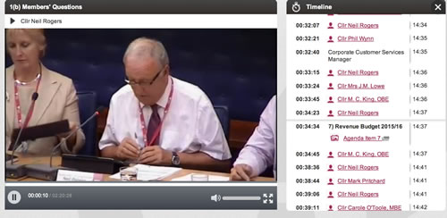 The webcasting system published the first meeting this afternoon.
