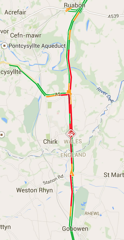 A5 And A483 Reopen After Rtc At Halton Roundabout