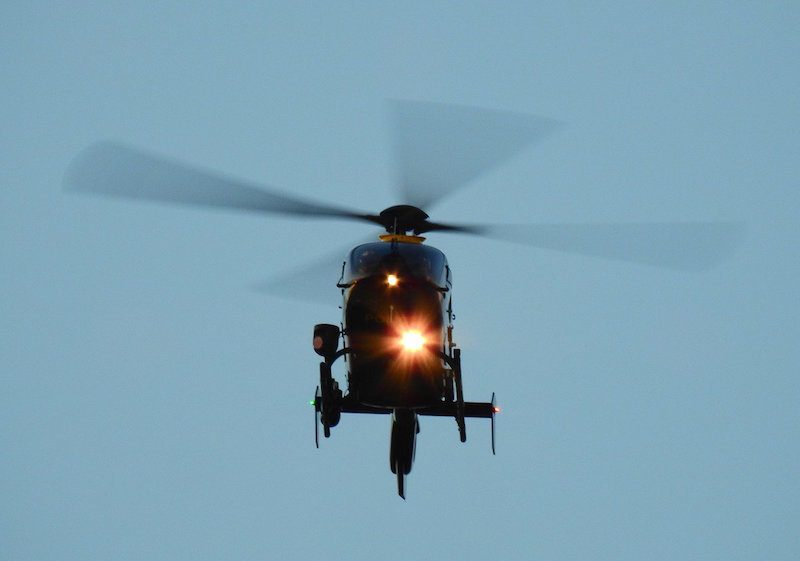 Police Helicopter Search Over Wrexham Due 'Concerns For