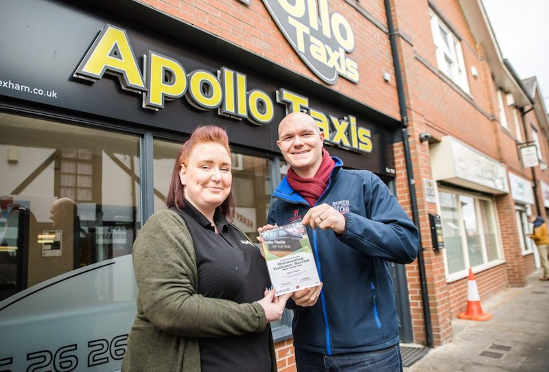 5f26491f1283 Joe Bickerton, Destination Manager at Wrexham County Borough Council said  that both 'Apollo Taxi's and King Street Coffee have brought a quality  welcome to ...