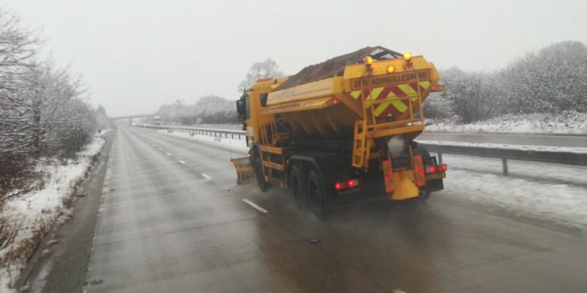 Over 9,000 tonnes of grit spread on Wrexham's roads during winter months