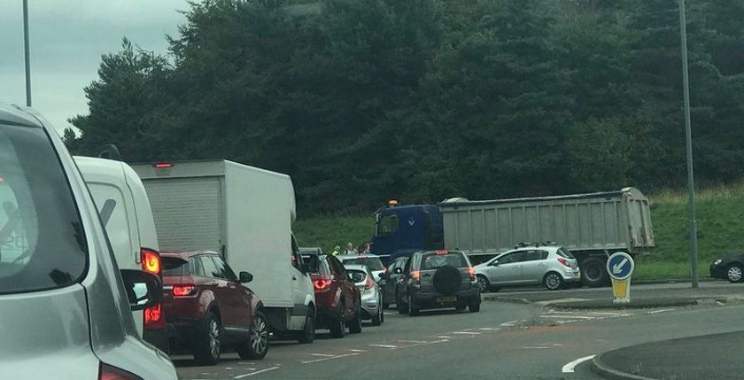 Road reopens following collision on the Gresford Roundabout