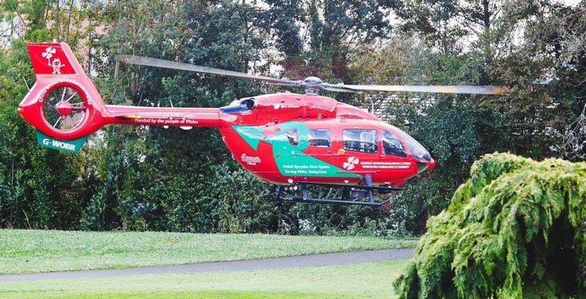 Air ambulance called to Hightown crash
